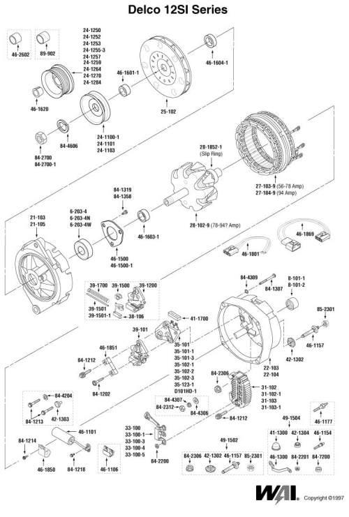 Gm Alternator Parts Diagram - Wiring Diagram Post