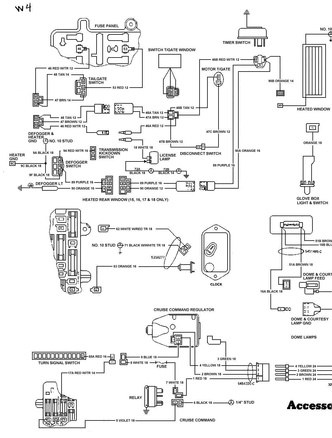 78_FSJ_WiringDiagramPage4 tom 'oljeep' collins fsj wiring page 1984 jeep cj7 wiring diagram at bakdesigns.co