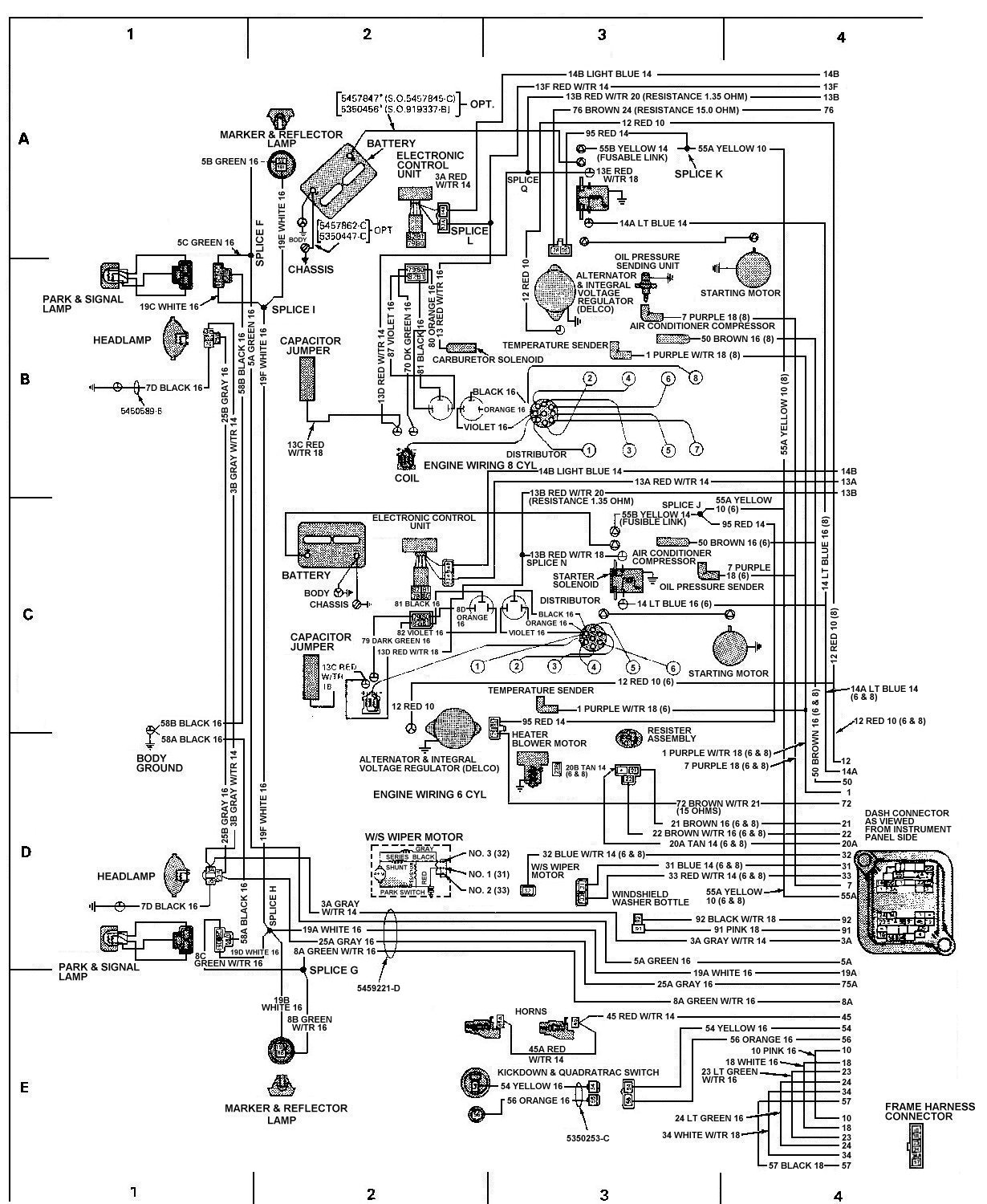 78_FSJ_WiringDiagramPage7 tom 'oljeep' collins fsj wiring page 1990 jeep cherokee ignition wiring diagram at gsmx.co