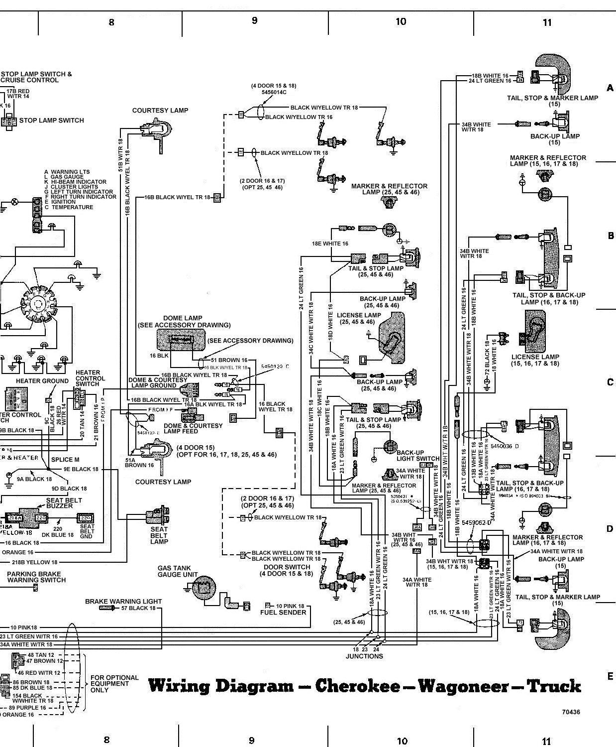 78_FSJ_WiringDiagramPage9 laredo wiring diagram wiring diagrams Chevy Tail Light Wiring Diagram at bayanpartner.co
