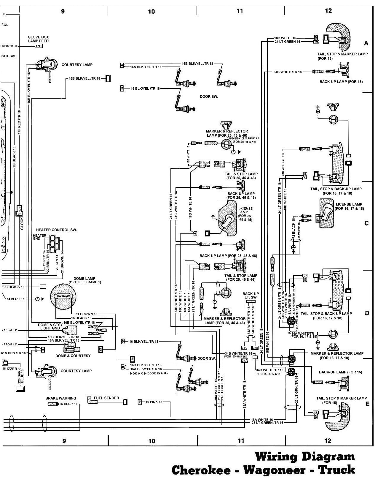 Tom Oljeep Collins Fsj Wiring Page 1981 Jeep Cj5 4 Cyl Diagram
