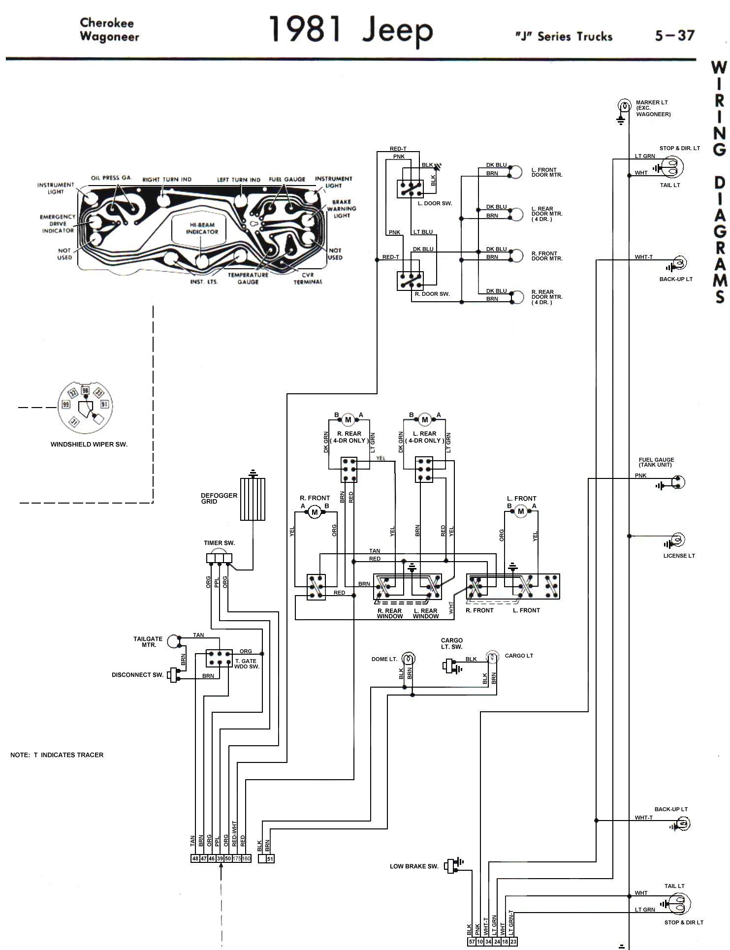 81_FSJ_WiringDiagramPage4 tom 'oljeep' collins fsj wiring page grand wagoneer wiring diagram at readyjetset.co