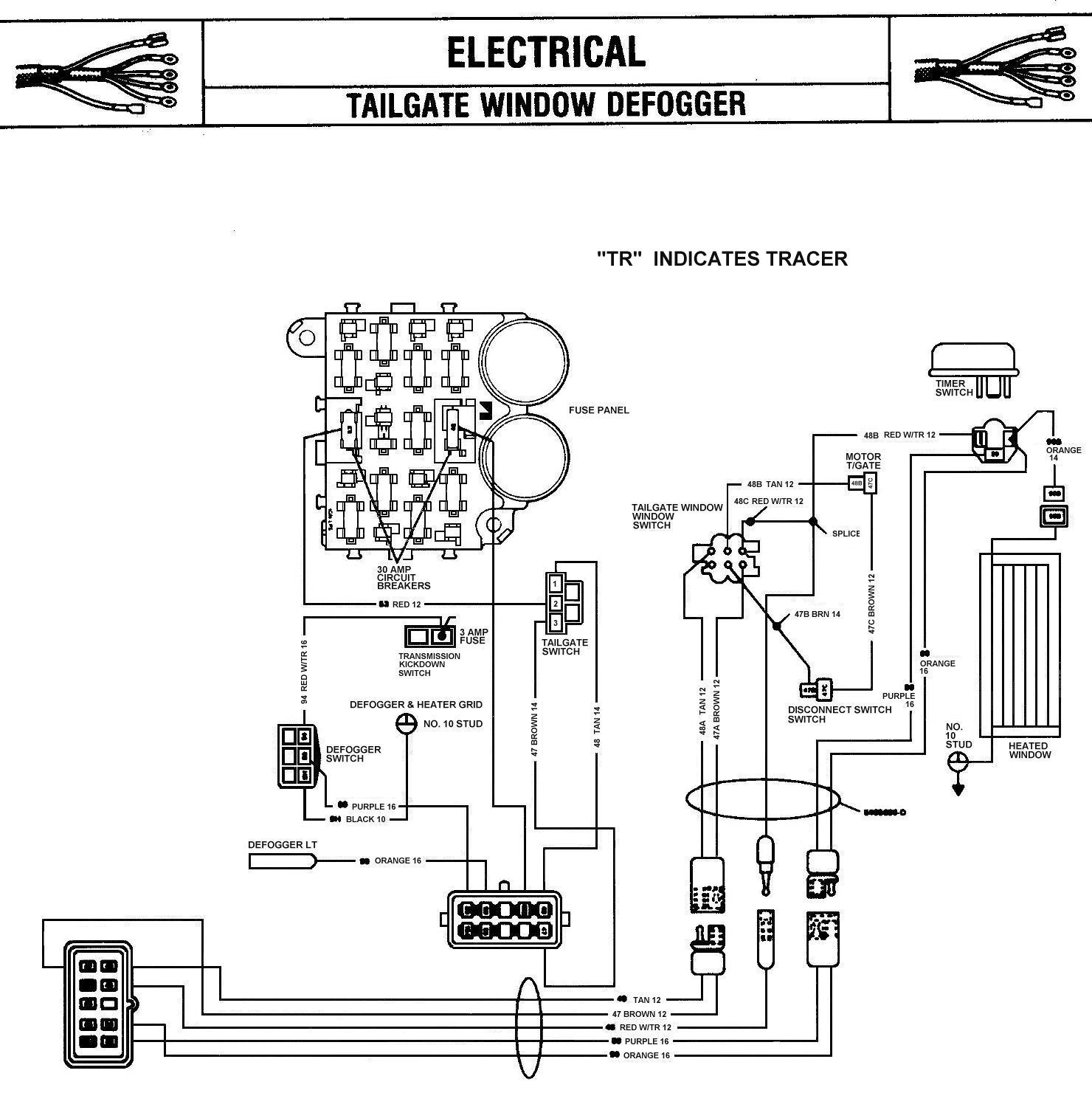 84 85_RearWindowDefroster tom 'oljeep' collins fsj wiring page 1989 jeep cherokee wiring diagram at readyjetset.co