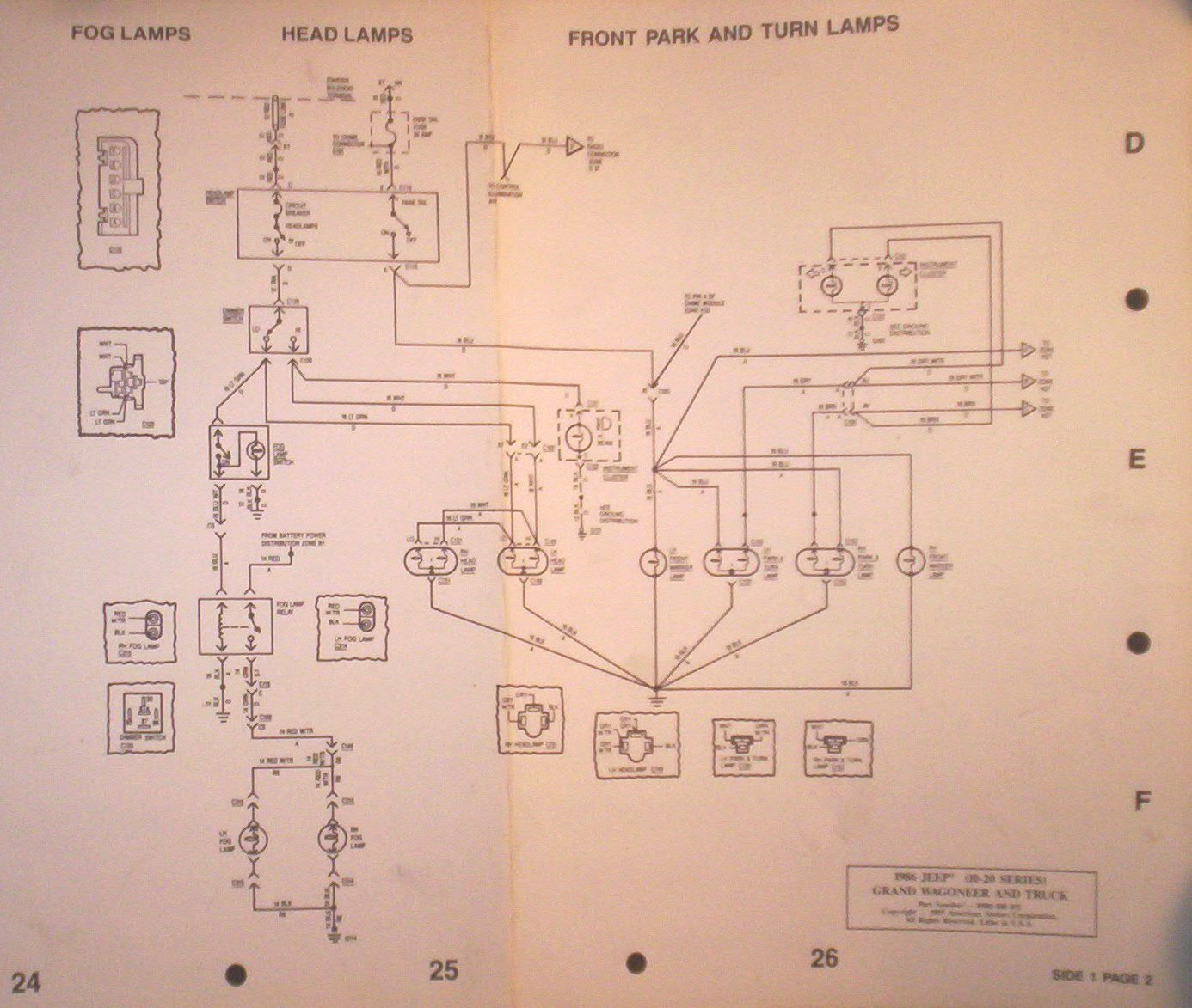 [SCHEMATICS_4FR]  Fog Light Switch and Wiring - Full Size Jeep Network | Illuminated Switch Wiring Diagram Fog Light |  | FSJ Network