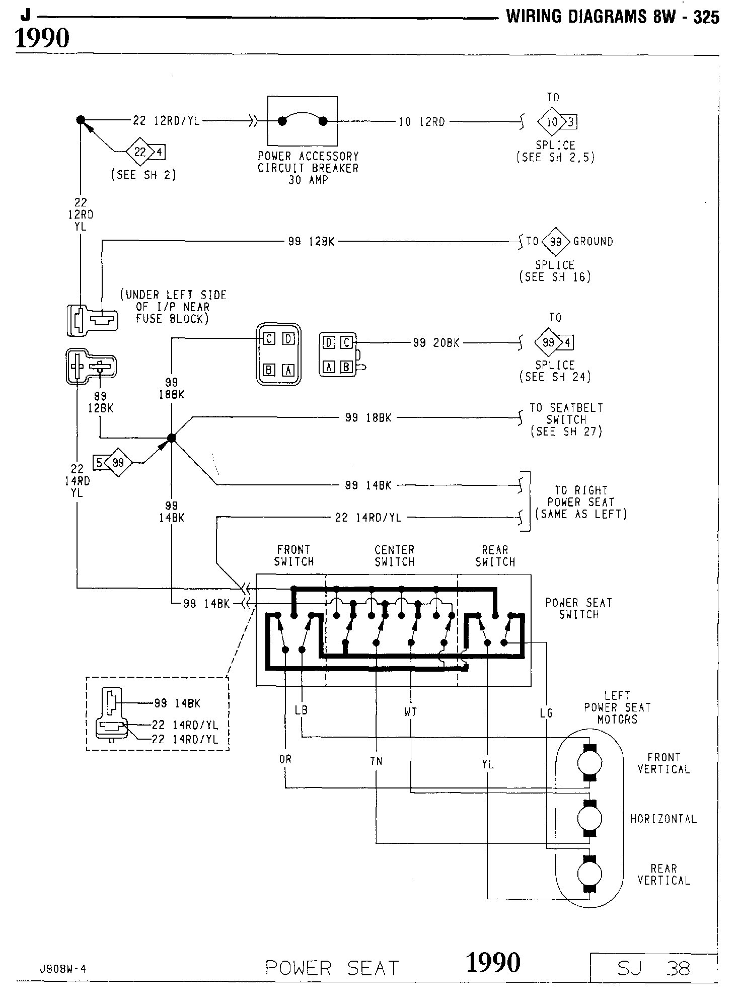 Tom Oljeep Collins Fsj Wiring Page 1990 Jeep Fuse Box Diagram Power Seat Schematic