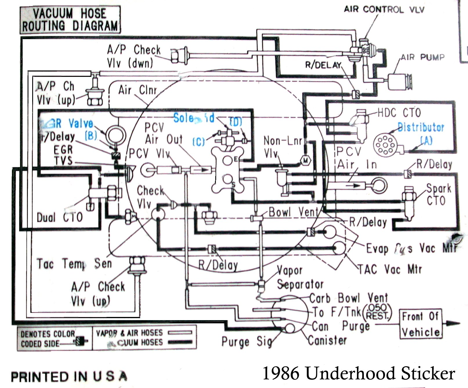 1986 GW Hood Vacuum Layout Sticker